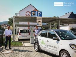Bild von Neue Ladesäulen für E-Autos in Saalfeld